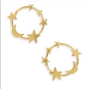 Madewell star and moon earrings